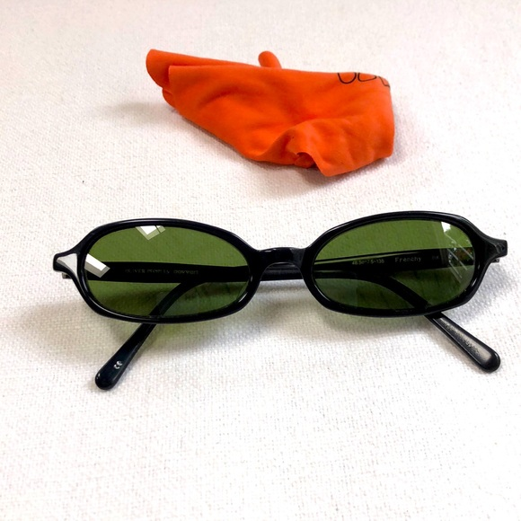 Oliver Peoples Green and Black Small Glasses